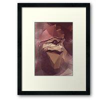 Low Polygon Wrex Framed Print
