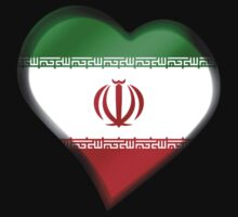 Iranian Flag - Iran - Heart Kids Clothes