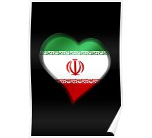 Iranian Flag - Iran - Heart Poster