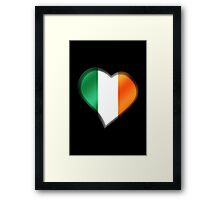 Irish Flag - Ireland - Heart Framed Print
