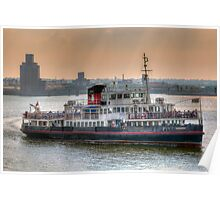 Mersey Ferry Boat Snowdrop Poster