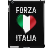 Forza Italia - Italian Flag Heart & Text - Metallic iPad Case/Skin