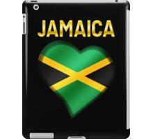 Jamaica - Jamaican Flag Heart & Text - Metallic iPad Case/Skin