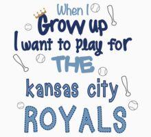 When I Grow Up...Baseball (Kansas City) Kids Clothes