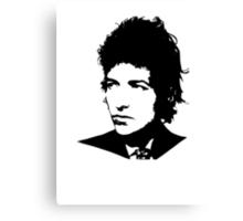 Bob Dylan - Stylized White Ver. Canvas Print