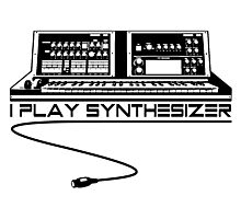 I Play Synthesizer Photographic Print