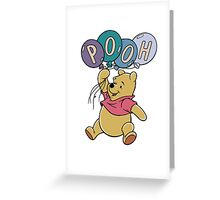 Winnie the Pooh with Balloons Greeting Card