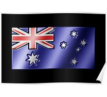 Australian Flag - Australia - Metallic Poster