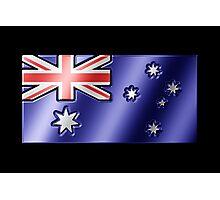 Australian Flag - Australia - Metallic Photographic Print