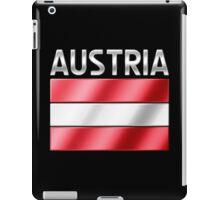 Austria - Austrian Flag & Text - Metallic iPad Case/Skin