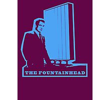 The Fountainhead Blue Architecture t shirt Photographic Print