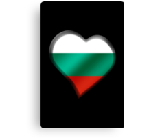 Bulgarian Flag - Bulgaria - Heart Canvas Print
