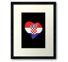 Croatian Flag - Croatia - Heart Framed Print