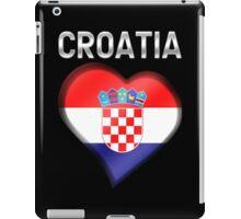 Croatia - Croatian Heart & Text - Metallic iPad Case/Skin