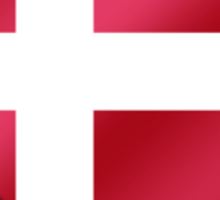 Danish Flag - Denmark - Heart Sticker
