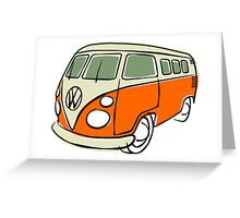 VW Type 2 bus orange Greeting Card