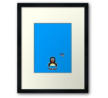 Domestic Penguin - Ladies Framed Print