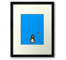Domestic Penguin - Nail Painting Framed Print