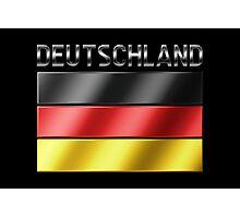 Deutschland - German Flag & Text - Metallic Photographic Print