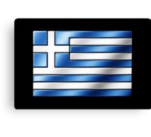 Greek Flag - Greece - Metallic Canvas Print