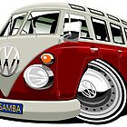 VW split-screen bus by car2oonz