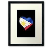 Filipine Flag - Philippines - Heart Framed Print