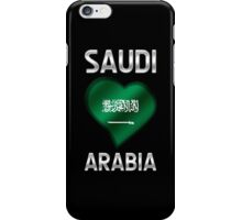 Saudi Arabia - Saudi Arabian Flag Heart & Text - Metallic iPhone Case/Skin