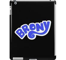 Brony Logo - Blue iPad Case/Skin