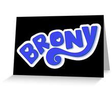 Brony Logo - Blue Greeting Card