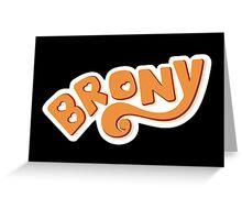 Brony Logo - Orange Greeting Card
