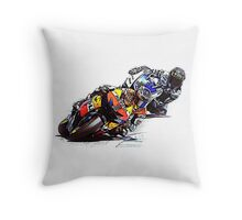 Casey & Lorenzo Style Moto GP 2012 Throw Pillow