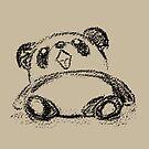Panda sketch by Toru Sanogawa