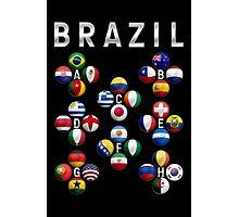 Brazil - World Football or Soccer - 2014 Groups - Brasil Photographic Print