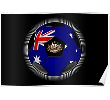 Australia - Australian Flag - Football or Soccer Poster