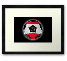 Austria - Austrian Flag - Football or Soccer Framed Print