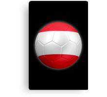 Austria - Austrian Flag - Football or Soccer 2 Canvas Print