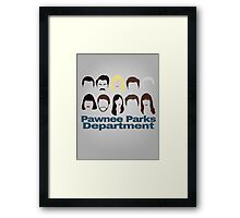 Pawnee Parks and Rec Crew Framed Print