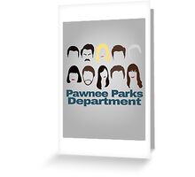 Pawnee Parks and Rec Crew Greeting Card