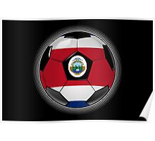 Costa Rica - Costa Rican Flag - Football or Soccer Poster
