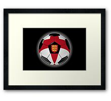 England - English Flag - Football or Soccer Framed Print