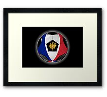 France - French Flag - Football or Soccer Framed Print