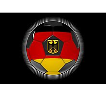 Germany - German Flag - Football or Soccer Photographic Print