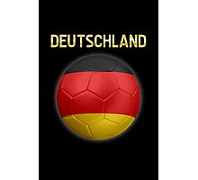 Deutschland - German Flag - Football or Soccer Ball & Text 2 Photographic Print