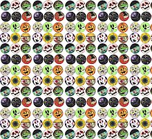 Halloween Ghouls Pattern by Nalinne Jones