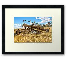 All That Remains..... Old Wagon .... Framed Print