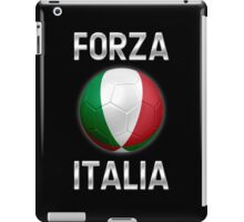 Forza Italia - Italian Flag - Football or Soccer Ball & Text 2 iPad Case/Skin