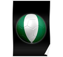 Nigeria - Nigerian Flag - Football or Soccer 2 Poster