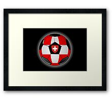 Switzerland - Swiss Flag - Football or Soccer Framed Print