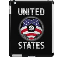 United States - American Flag - Football or Soccer Ball & Text iPad Case/Skin