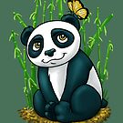 Panda and Butterfly by Shakira Rivers